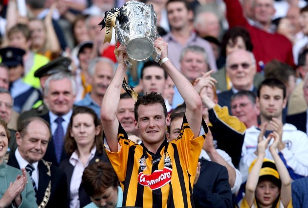 Jackie Tyrrell lift the Liam McCarthy Cup