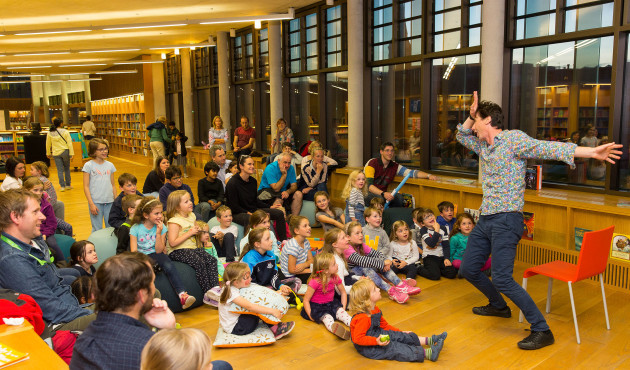 22nd September 2017 - Pictured at the Lexicon Library on Culture Night was Niall de Búrca with his unique style of storytelling. Photo by Peter Cavanagh - Must Credit No reproduction Fee