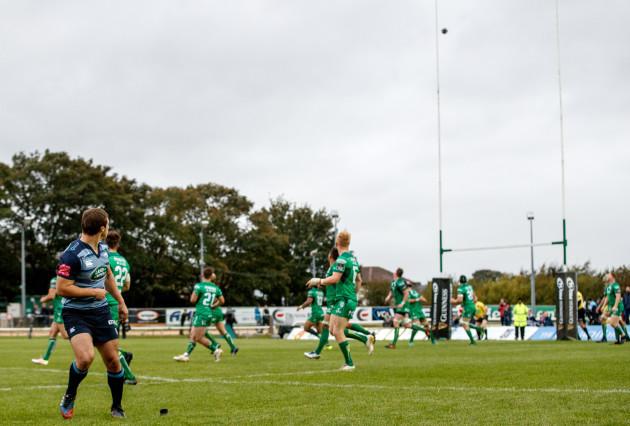 Jarrod Evans kicks the winning conversion
