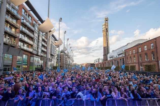 A general view of the Dublin fans at Smithfield Square
