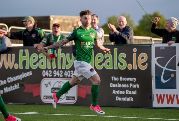 Sean Maguire celebrates scoring their second goal