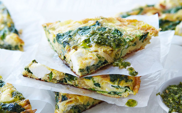 spinach-goats-cheese-frittata