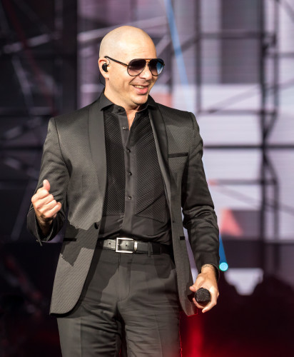 Pitbull performs in San Antonio, Texas