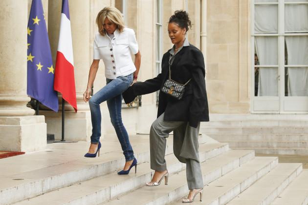 France: Brigitte Macron Receives Rihanna