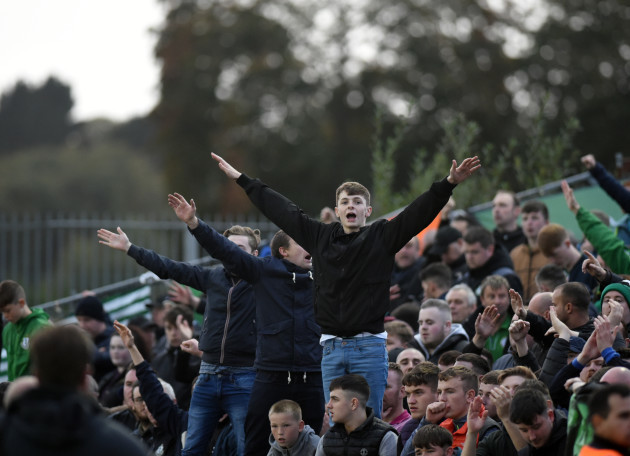 Shamrock Rovers fans at full time