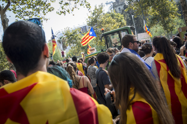 Spain: Farmers in the streets of Barcelona