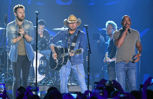 Jason Aldean was performing when the worst mass shooting in US history occurred