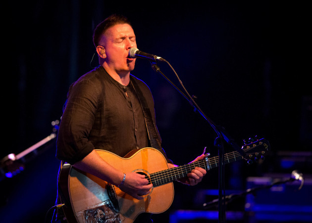 Damien Dempsey performing at Bulmers Live at Leopardstown
