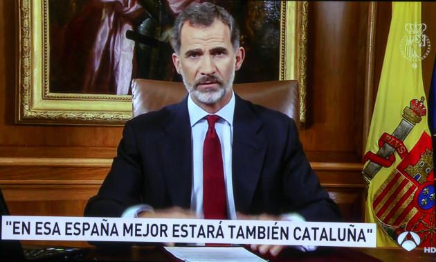 King Felipe's Address To The Nation - Madrid