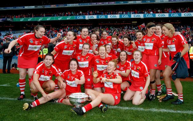 The Cork team celebrate winning