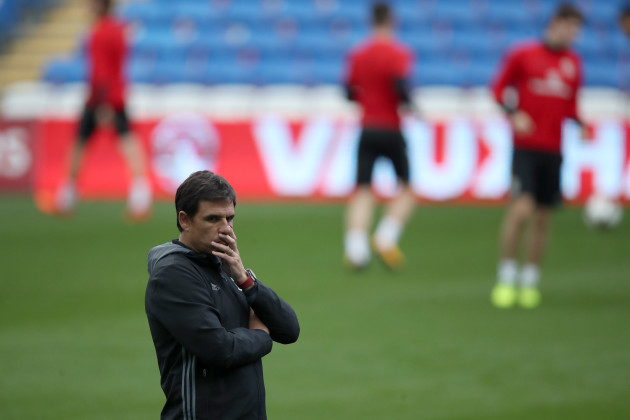 Wales Training and Press Conference - Cardiff City Stadium