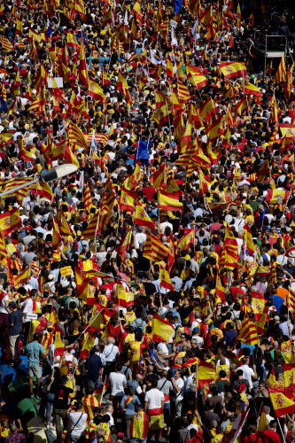 Spain: Pro-Unity Rally against Catalonian Independence