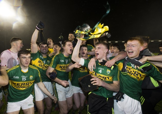 Kerry celebrate with the trophy