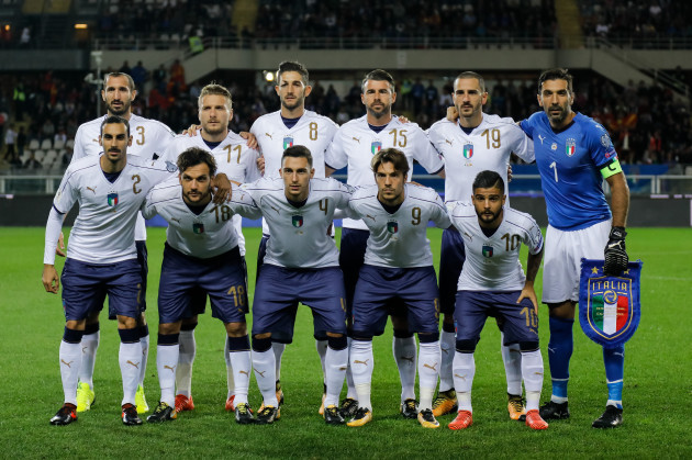 Italy: Italy v FYR Macedonia - FIFA 2018 World Cup Qualifier