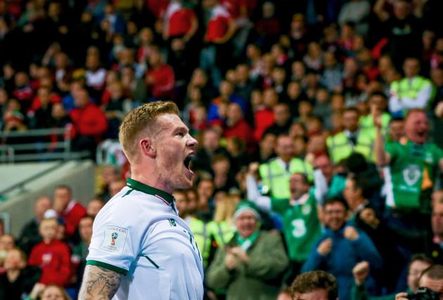 James McClean celebrates scoring his sides opening goal