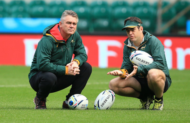 Rugby Union - Rugby World Cup 2015 - South Africa Captains Run - Twickenham Stadium