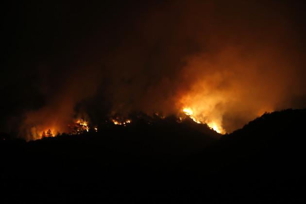 Wild Fires Rage - California