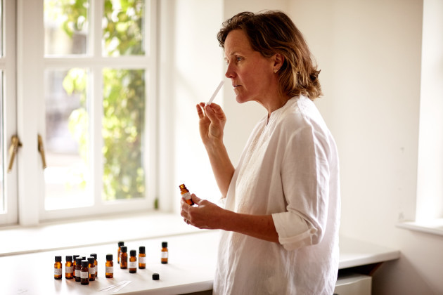 sadie-testing-new-scents