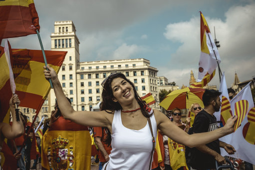 Thousands of Catalans Gather Against Independence