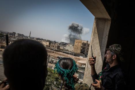 Battles in Old City of Raqqa