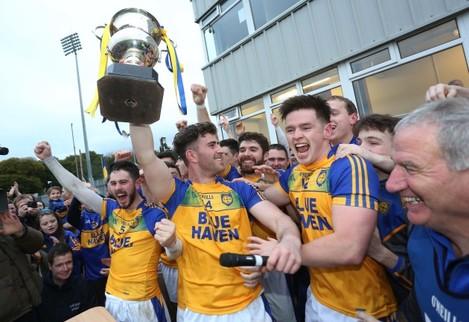 Patrick McBrearty celebrates with team mates