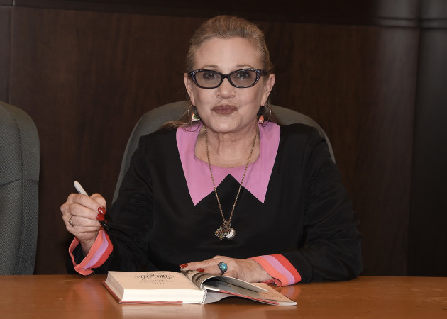 Carrie Fisher Signs Her Book The Princess Diarist at Barnes & Noble at The Grove