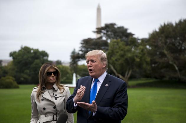 Trump Departure for Secret Service Training Facility