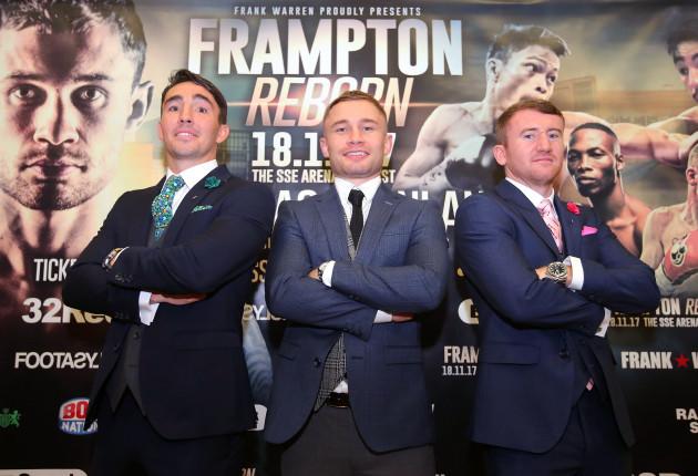 Jamie Conlan, Carl Frampton and Paddy Barnes