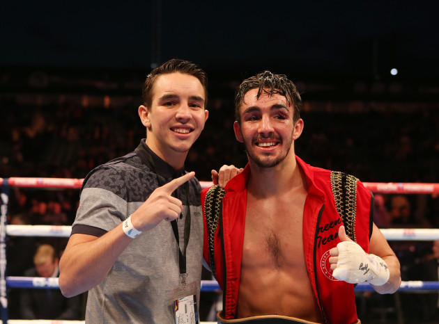 Jamie Conlan celebrates winning with brother Michael Conlan