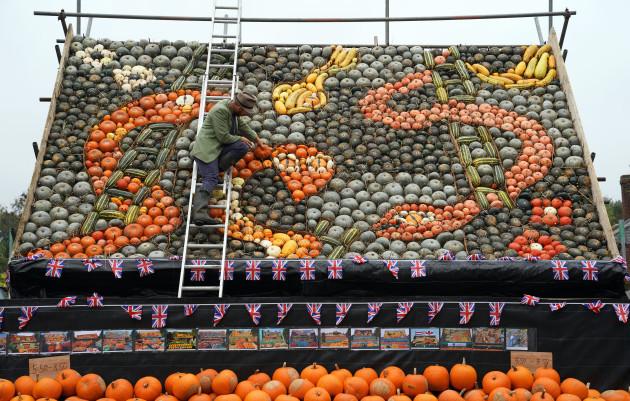 Pumpkin mural
