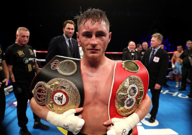 Ryan Burnett celebrates after the fight
