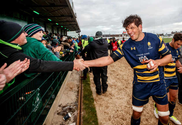 Donncha O'Callaghan with Connacht fans after the game