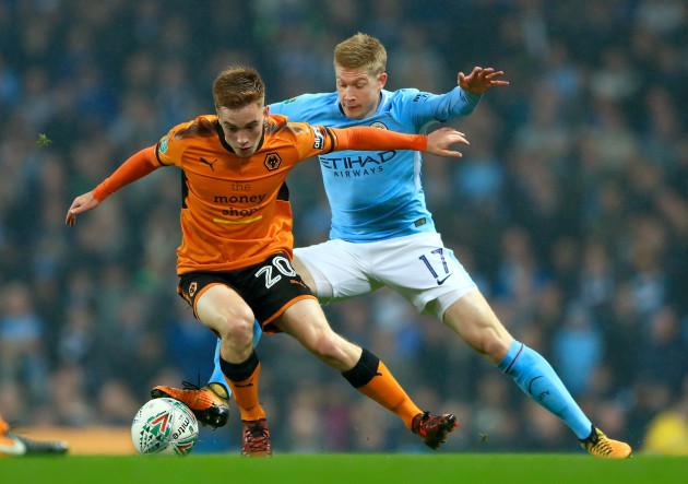 Manchester City v Wolverhampton Wanderers - Carabao Cup - Fourth Round - Etihad Stadium