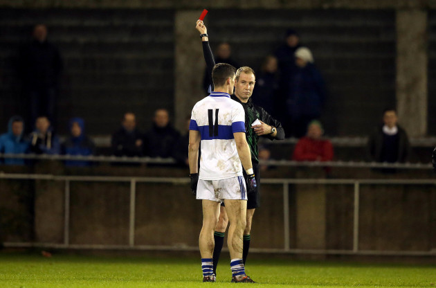 Diarmuid Connolly is sent off by referee Darragh Sheppard