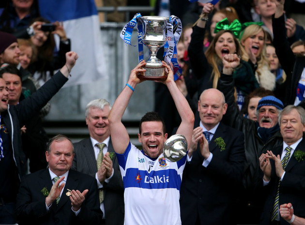 Ger Brennan lifts the cup