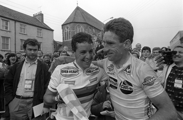 Stephen Roche and Sean Kelly 30/9/1988