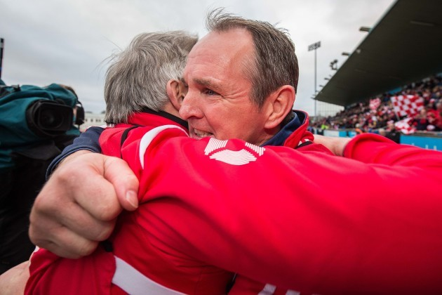 Cuala manager Mattie Kenny at the final whistle
