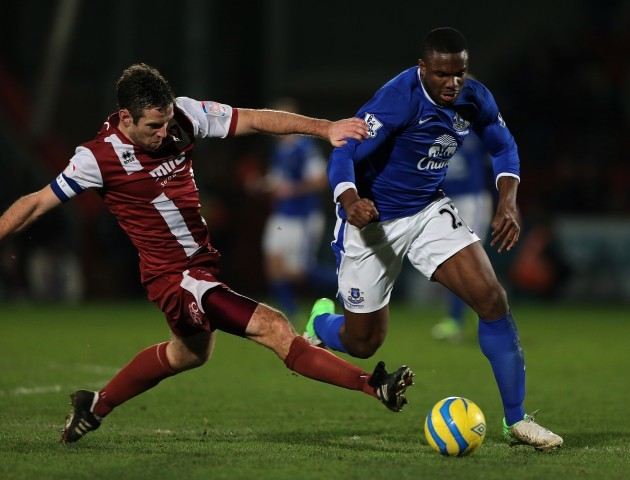 Soccer - FA Cup - Third Round - Cheltenham Town v Everton - Whaddon Road