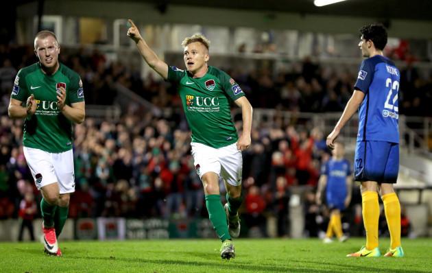 Conor McCormack celebrates scoring