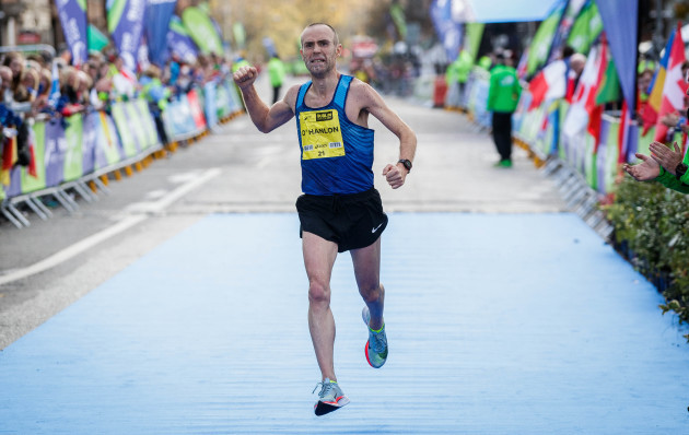 Gary O'Hanlon crosses the line to be the second Irish finisher