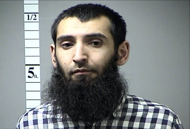 Booking Report and Photo of Sayfullo Saipov
