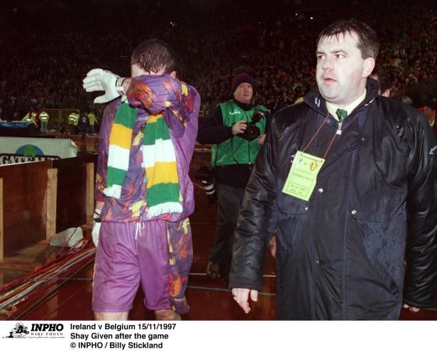 Shay Given Ireland v Belgium 15/11/1997