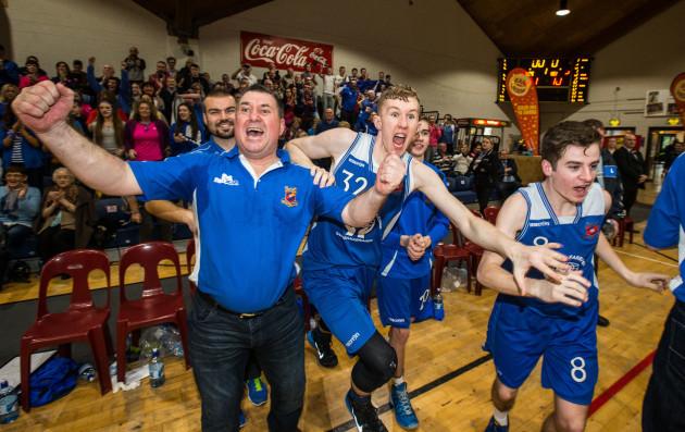 Liam Chandler celebrates