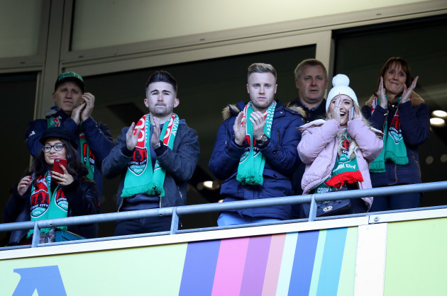 Sean Maguire and Kevin O'Connor attend the game