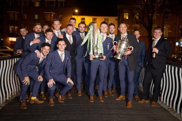 The Cork City team pictured on the Nano Nagle bridge