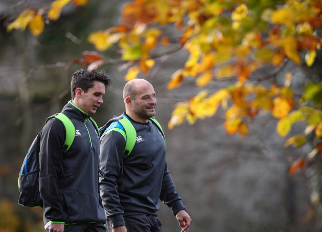 Joey Carbery and Rory Best