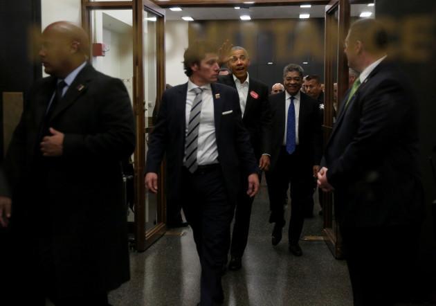 Barack Obama Arrives For Jury Duty - Chicago