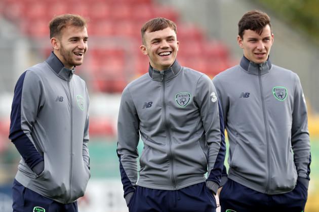 Dessie Hutchinson, Rory Hale and Connor Diamio