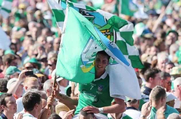 Gavin O'Mahony celebrates at the final whistle