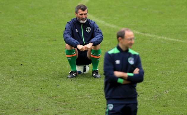 Martin O'Neill with Roy Keane